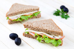 Fresh sandwiches Royalty Free Stock Image