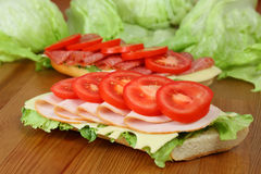 Fresh sandwiches Stock Photo