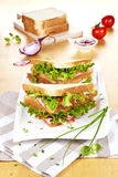 Fresh sandwiches. Stock Photo