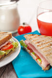 Fresh sandwiches breakfast served meal Stock Photo