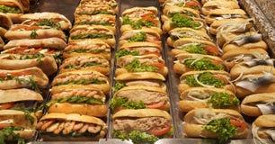 Fresh sandwiches Stock Photos