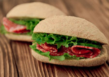 Fresh sandwiches Stock Images
