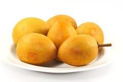 Fresh sapodilla isolated,Sapodilla plum. Fresh sapodilla isolated,Sapodilla ,plum Royalty Free Stock Photos