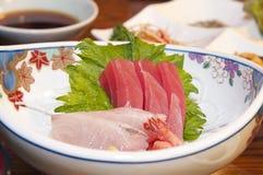 Fresh Sashimi. Sashimi with fresh salmon, tuna, and prawn stock images