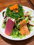 Fresh sashimi salad Royalty Free Stock Photography