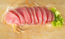 Fresh sashimi on wood background Royalty Free Stock Photo