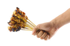 Fresh satay chicken Royalty Free Stock Photo