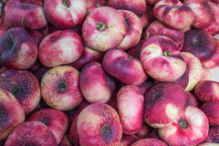 Fresh saturn peaches fruit background Royalty Free Stock Photo