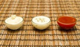 Fresh sauces Royalty Free Stock Image
