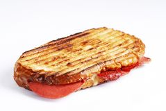 Fresh Sausage Cheese Toast royalty free stock photography