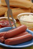 Fresh sausages. Stock Photography