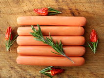 Fresh sausages Stock Image