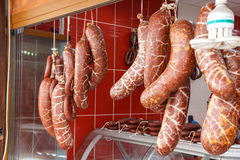Fresh sausages Royalty Free Stock Images