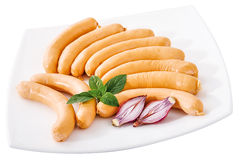 Fresh sausages Royalty Free Stock Image