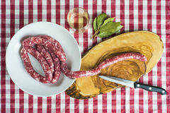 Fresh sausages to be cooked Royalty Free Stock Image