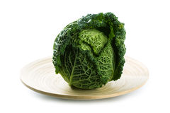 Fresh savoy cabbage Royalty Free Stock Photography
