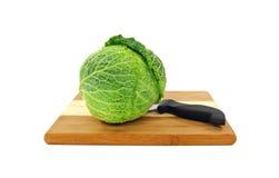 Fresh Savoy Cabbage Stock Photography