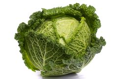 Fresh savoy cabbage Royalty Free Stock Photo