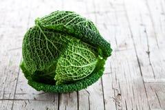 Fresh savoy cabbage Royalty Free Stock Image