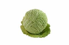 Fresh savoy cabbage head Stock Photo