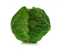 Savoy cabbage isolated on a white background Royalty Free Stock Photo