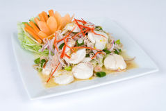 Fresh scallop salad royalty free stock images