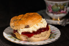 Fresh scone cream tea Royalty Free Stock Image