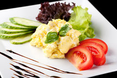 Fresh scrambled eggs Stock Photography