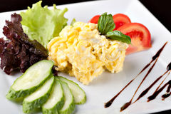 Fresh scrambled eggs Royalty Free Stock Images