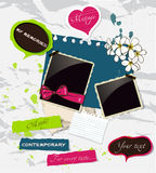 Fresh scrapbooking elements set. Royalty Free Stock Images