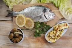 Fresh sea bream ready to cook Stock Images