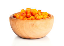 Fresh sea buckthorn berry Royalty Free Stock Photos