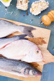 Fresh sea fish preparation Stock Photos