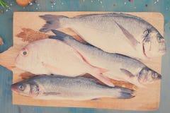 Fresh sea fish preparation Royalty Free Stock Photo