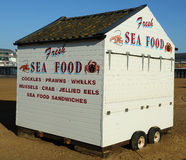 Fresh Sea Food. Being sold on a beach in England Royalty Free Stock Photography