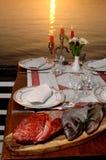 Fresh sea food on table Stock Photos