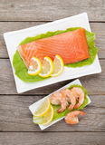 Fresh sea food Stock Photos