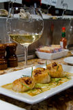 Fresh sea scallops Stock Image
