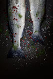 Fresh Seabass With Spices Royalty Free Stock Photo