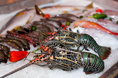 Fresh seafood in asian market Royalty Free Stock Photography
