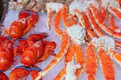 Fresh seafood background Royalty Free Stock Photo