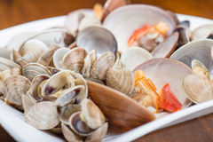 Fresh seafood, clams and cockles Royalty Free Stock Photos