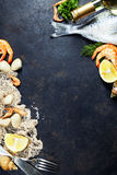 Fresh seafood Stock Photography