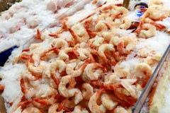 Fresh seafood display at Public Market Center, Seattle landmark stock images