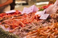 Fresh seafood at fish market Stock Photography