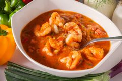 Fresh Seafood Gumbo with Ingredients