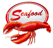 Fresh seafood with lobster Royalty Free Stock Photo
