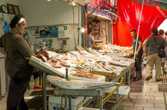 Fresh seafood market Royalty Free Stock Photos