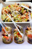 Fresh seafood salad with a lot of ingredients Stock Image