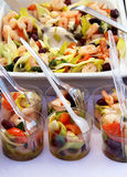 Fresh seafood salad with a lot of ingredients Royalty Free Stock Photos